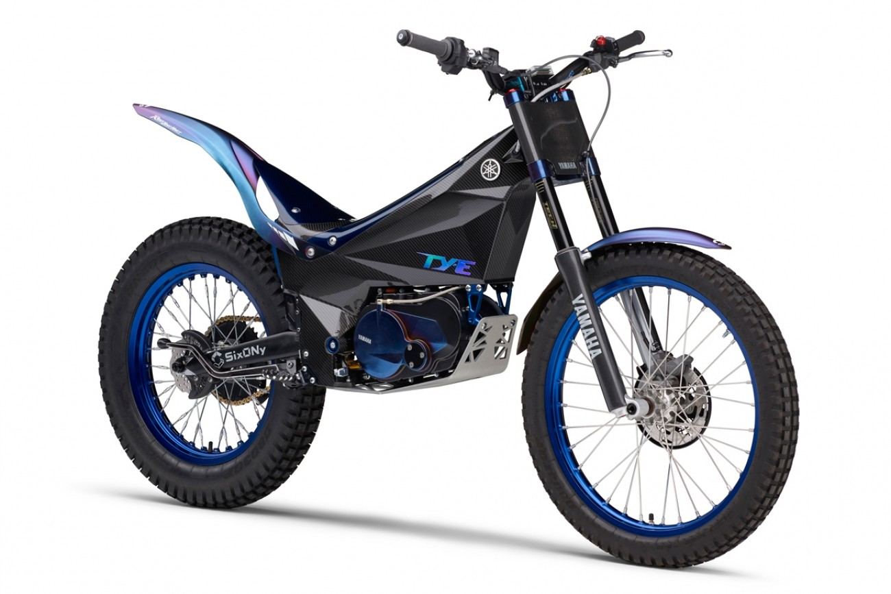 yamaha announces electric ty e trial bike racer x exhaust. Black Bedroom Furniture Sets. Home Design Ideas
