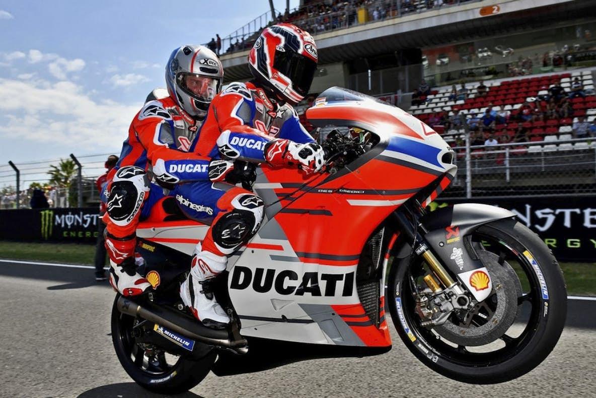 13833f4f11536 NASCAR s Kurt Busch Went Riding On The Back Of A MotoGP Bike - Racer ...