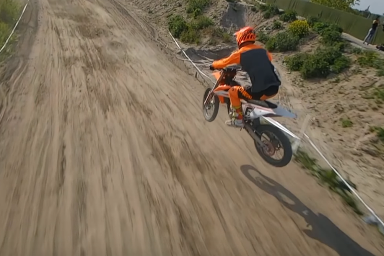 You Need To Watch This Video Of A Drone Chasing A Dirt Bike Racer X Exhaust